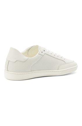 Мужские кожаные кеды court classic sl/10 SAINT LAURENT белого цвета, арт. 603223/1JZ10 | Фото 5 (Материал внутренний: Натуральная кожа; Подошва: Плоская)