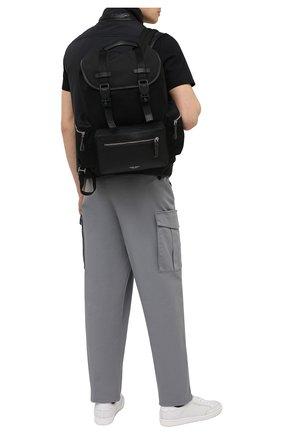 Мужской комбинированный рюкзак GIORGIO ARMANI черного цвета, арт. Y20133/YI68E   Фото 2