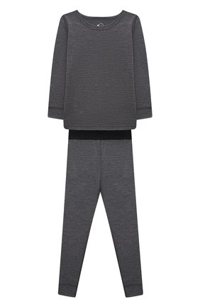 Детский комплект из лонгслива и брюк WOOL&COTTON темно-серого цвета, арт. WRUFP | Фото 1