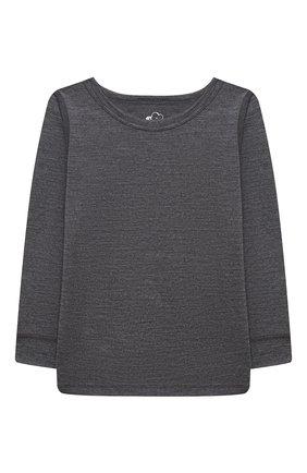 Детский комплект из лонгслива и брюк WOOL&COTTON темно-серого цвета, арт. WRUFP | Фото 2