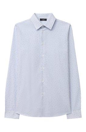 Детская хлопковая рубашка DAL LAGO голубого цвета, арт. N402/9020/7-12 | Фото 1 (Стили: Классический; Материал внешний: Хлопок; Рукава: Длинные; Ростовка одежда: 10 - 11 лет | 140 - 146см, 12 лет | 152 см, 7 лет | 122 см, 8 лет | 128 см, 9 лет | 134 см)
