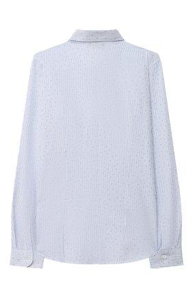 Детская хлопковая рубашка DAL LAGO голубого цвета, арт. N402/9020/7-12 | Фото 2 (Стили: Классический; Материал внешний: Хлопок; Рукава: Длинные; Ростовка одежда: 10 - 11 лет | 140 - 146см, 12 лет | 152 см, 7 лет | 122 см, 8 лет | 128 см, 9 лет | 134 см)