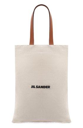 Женский сумка-шопер flat JIL SANDER белого цвета, арт. JSPS852457-WSB73019 | Фото 1