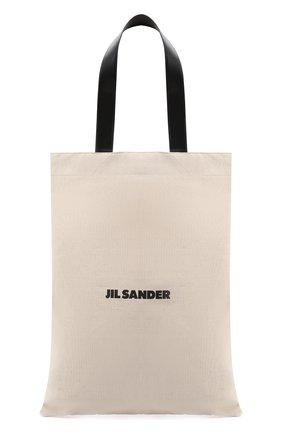 Женский сумка-шопер flat JIL SANDER белого цвета, арт. JSPS852457-WSB73020 | Фото 1
