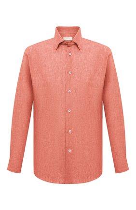 Мужская льняная рубашка BRIONI оранжевого цвета, арт. SCAY0L/P9111 | Фото 1