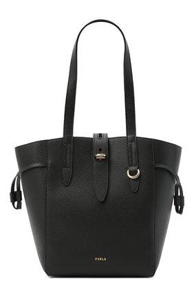 Женский сумка-тоут net medium FURLA черного цвета, арт. BZT0FUA/HSF000   Фото 1