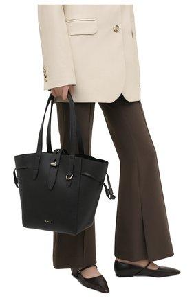 Женский сумка-тоут net medium FURLA черного цвета, арт. BZT0FUA/HSF000   Фото 2