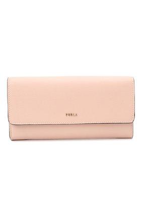 Женские кожаный кошелек FURLA розового цвета, арт. PCY3UNO/B30000   Фото 1