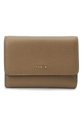 Женские кожаный кошелек FURLA бежевого цвета, арт. PCZ0UNO/HSF000 | Фото 1