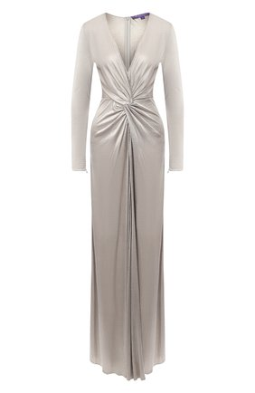 Женское платье из вискозы RALPH LAUREN серого цвета, арт. 290824121 | Фото 1