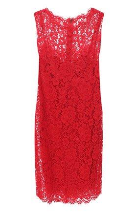 Женское платье DOLCE & GABBANA красного цвета, арт. F6H1AT/HLMEA | Фото 1