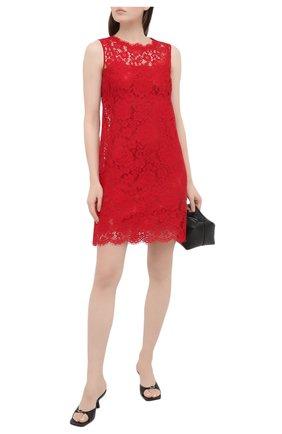 Женское платье DOLCE & GABBANA красного цвета, арт. F6H1AT/HLMEA | Фото 2