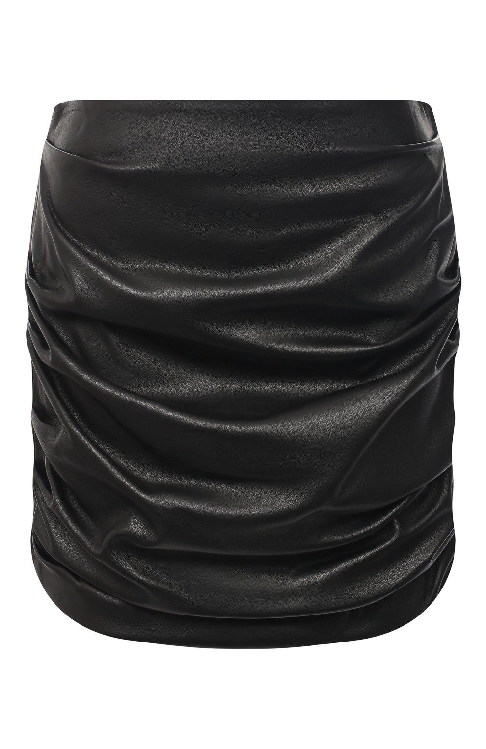Женская кожаная юбка DOLCE & GABBANA черного цвета, арт. F4BZ0L/HULAW   Фото 1