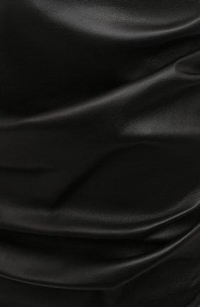 Женская кожаная юбка DOLCE & GABBANA черного цвета, арт. F4BZ0L/HULAW   Фото 5