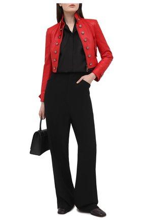 Женская кожаная куртка DOLCE & GABBANA красного цвета, арт. F28TUL/HULF5 | Фото 2