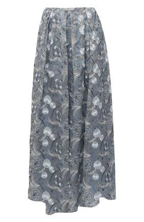 Женская шелковая юбка GIORGIO ARMANI светло-серого цвета, арт. 1SHNN04L/T02BB | Фото 1