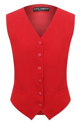 Женский жилет из шерсти и шелка DOLCE & GABBANA красного цвета, арт. F79H6T/FUCC6 | Фото 1