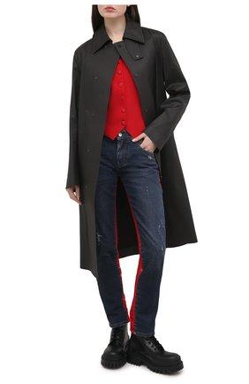 Женский жилет из шерсти и шелка DOLCE & GABBANA красного цвета, арт. F79H6T/FUCC6 | Фото 2