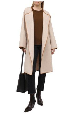 Женский кашемировый пуловер CHLOÉ хаки цвета, арт. CHC21SMP77500 | Фото 2