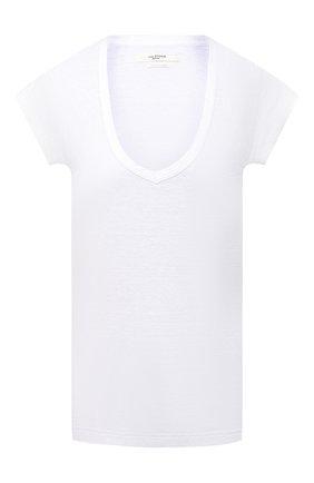Женская льняная футболка ISABEL MARANT ETOILE белого цвета, арт. TS0694-00M004E/ZANK0U | Фото 1
