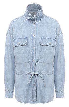 Женская хлопковая рубашка ISABEL MARANT ETOILE голубого цвета, арт. CH0735-21P023E/MADRAS   Фото 1