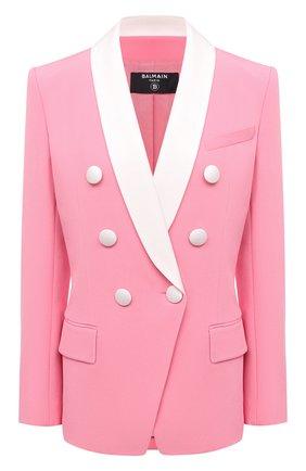 Женский жакет из вискозы BALMAIN розового цвета, арт. VF17471/V089 | Фото 1