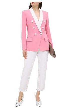 Женский жакет из вискозы BALMAIN розового цвета, арт. VF17471/V089 | Фото 2