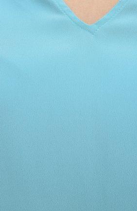 Женский топ FISICO голубого цвета, арт. S1/F/FM99C0   Фото 5 (Материал внешний: Шелк, Синтетический материал; Рукава: Короткие; Длина (для топов): Удлиненные; Кросс-КТ: с рукавом)