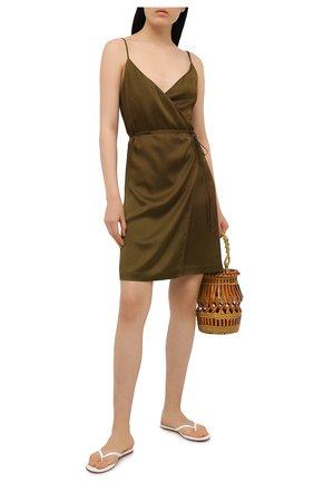 Женское платье FISICO хаки цвета, арт. S1/F/FV87S0 | Фото 2