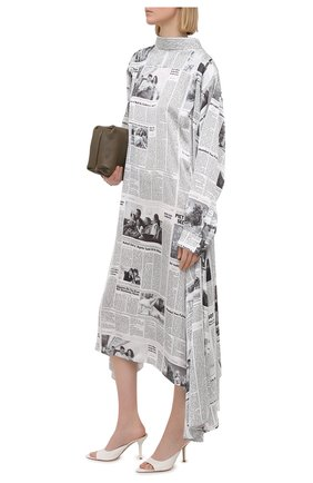 Женские кожаные мюли GIA COUTURE белого цвета, арт. PERNI-04 B 102 | Фото 2