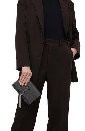 Женская сумка kate SAINT LAURENT темно-серого цвета, арт. 452159/B0W0N | Фото 2 (Сумки-технические: Сумки через плечо; Ремень/цепочка: С цепочкой, На ремешке; Размер: mini; Материал: Натуральная кожа)