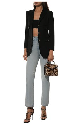 Женские кожаные босоножки cassandra SAINT LAURENT черного цвета, арт. 630109/1Q0TT | Фото 2 (Подошва: Плоская; Каблук тип: Шпилька; Материал внутренний: Натуральная кожа; Каблук высота: Высокий)