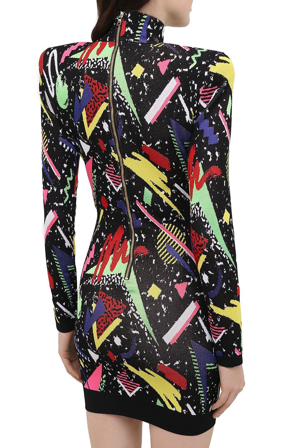 Женское платье BALMAIN разноцветного цвета, арт. VF16232/K216   Фото 4