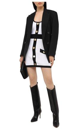 Женское платье из вискозы BALMAIN черно-белого цвета, арт. VF16062/K218 | Фото 2