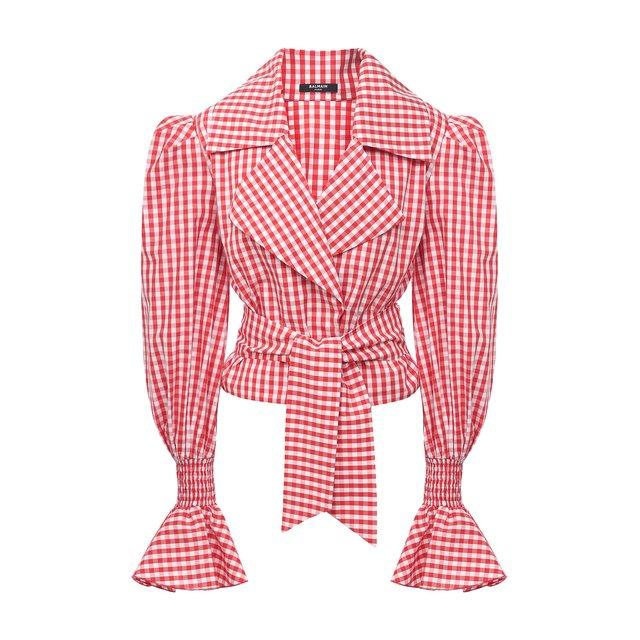 Хлопковая блузка Balmain