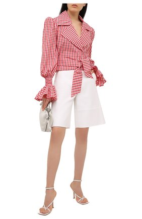 Женская хлопковая блузка BALMAIN красного цвета, арт. VF12699/C280 | Фото 2