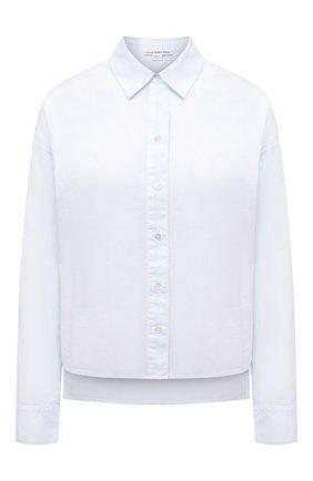 Женская хлопковая рубашка JAMES PERSE голубого цвета, арт. WLC3197 | Фото 1