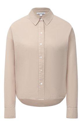 Женская хлопковая рубашка JAMES PERSE бежевого цвета, арт. WLC3197 | Фото 1