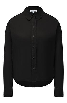 Женская хлопковая рубашка JAMES PERSE черного цвета, арт. WLC3197 | Фото 1