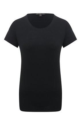 Женская хлопковая футболка JAMES PERSE черного цвета, арт. WELJ3055 | Фото 1