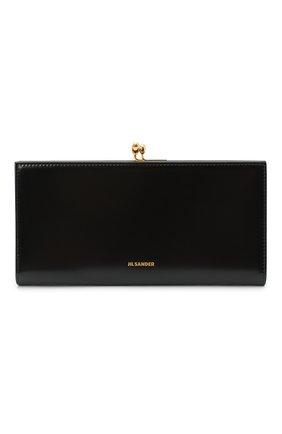 Женские кожаный кошелек JIL SANDER черного цвета, арт. JSPS840163-WSS00080N | Фото 1