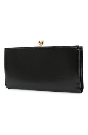 Женские кожаный кошелек JIL SANDER черного цвета, арт. JSPS840163-WSS00080N | Фото 2