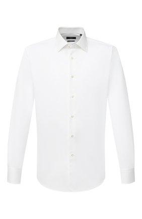 Мужская хлопковая сорочка BOSS белого цвета, арт. 50445644   Фото 1