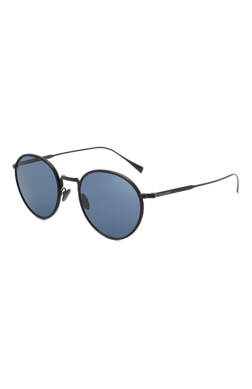 Мужские солнцезащитные очки GIORGIO ARMANI черного цвета, арт. AR6103J | Фото 1