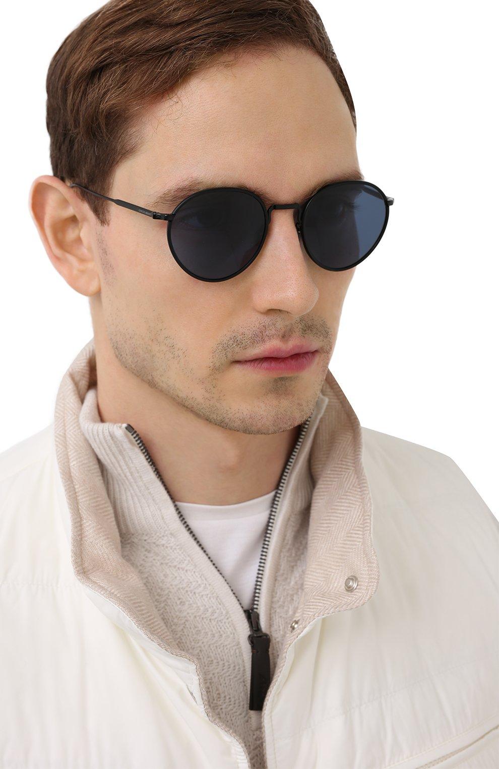 Мужские солнцезащитные очки GIORGIO ARMANI черного цвета, арт. AR6103J | Фото 2