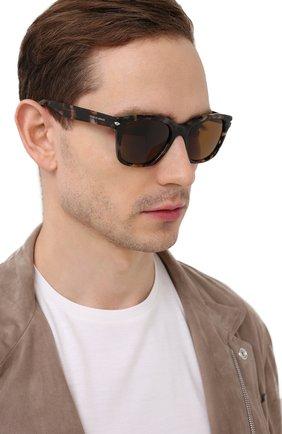 Мужские солнцезащитные очки GIORGIO ARMANI коричневого цвета, арт. AR8134 | Фото 2