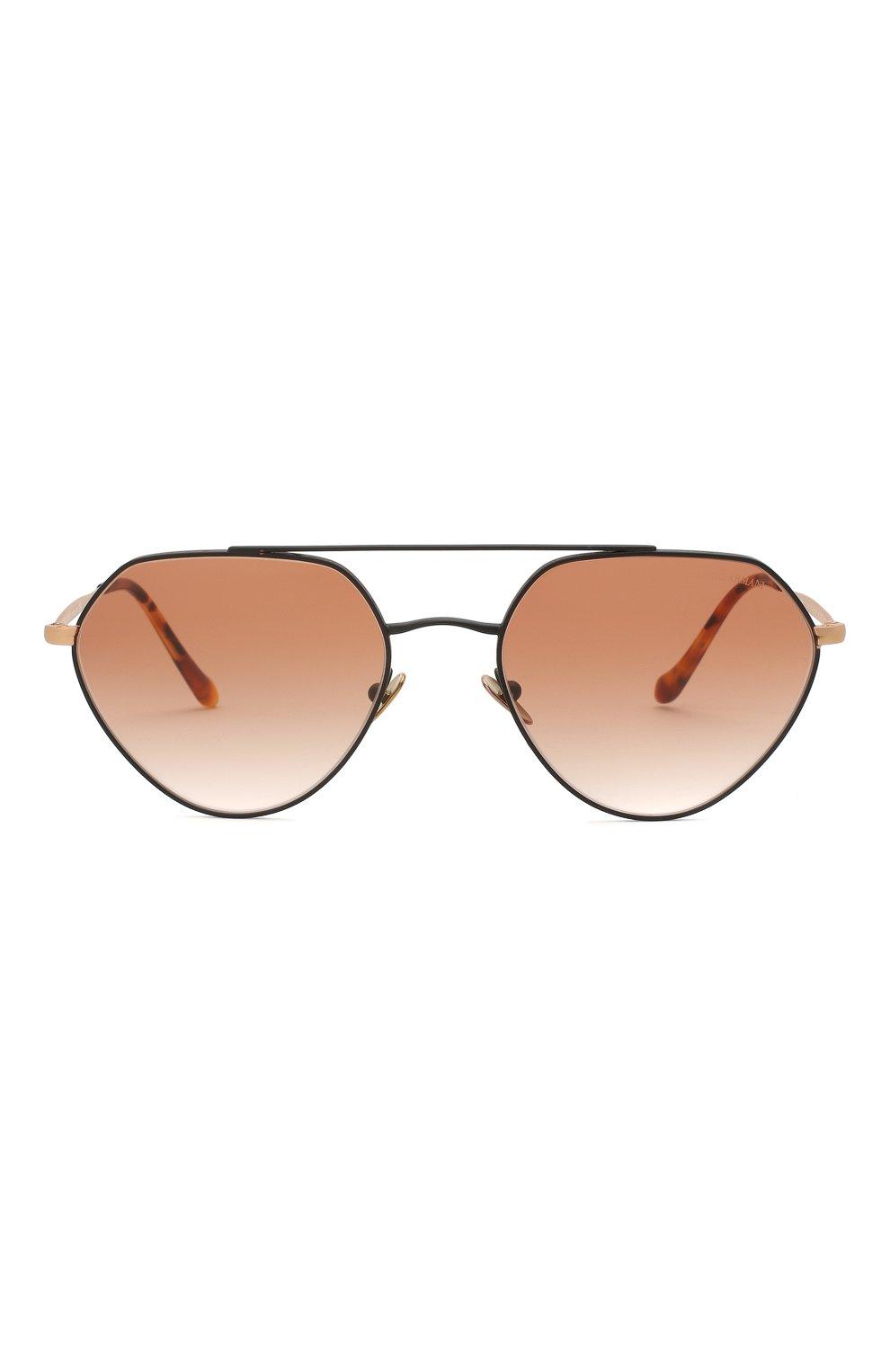 Мужские солнцезащитные очки GIORGIO ARMANI коричневого цвета, арт. AR6111 | Фото 3