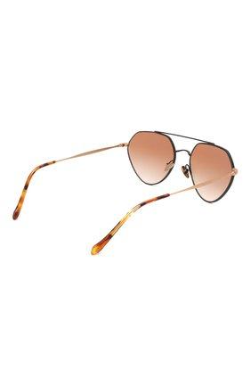 Мужские солнцезащитные очки GIORGIO ARMANI коричневого цвета, арт. AR6111 | Фото 4