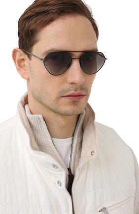 Мужские солнцезащитные очки GIORGIO ARMANI синего цвета, арт. AR6111 | Фото 2