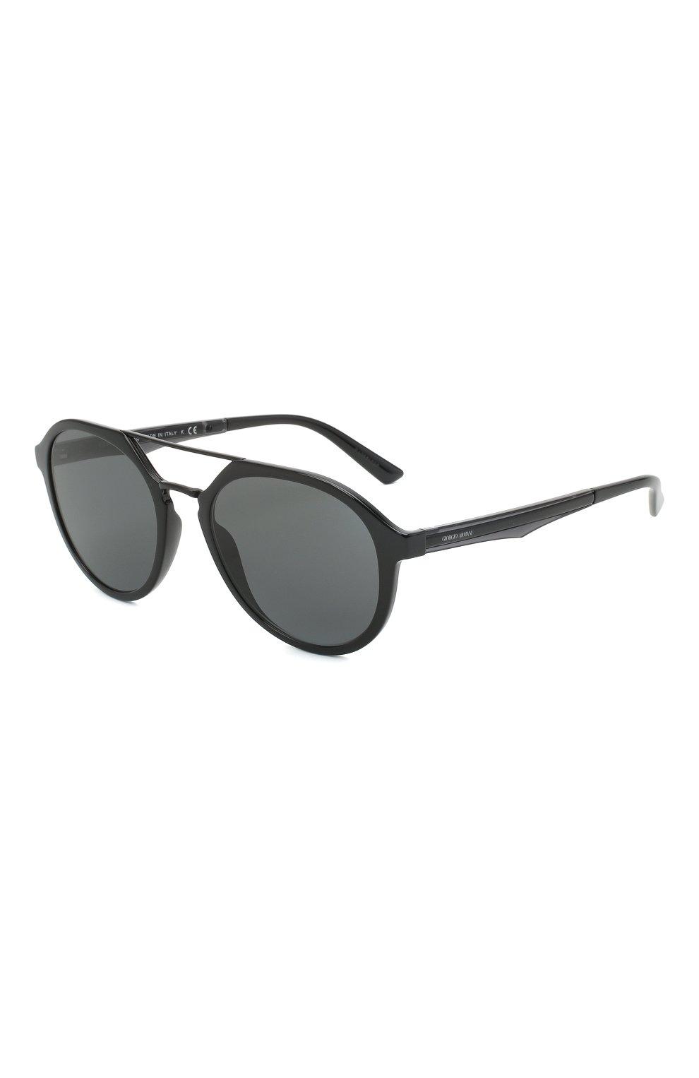 Мужские солнцезащитные очки GIORGIO ARMANI черного цвета, арт. AR8131   Фото 1